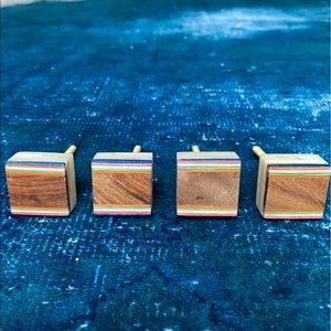 NWOT Anthropologie Square Wood Drawer Knobs
